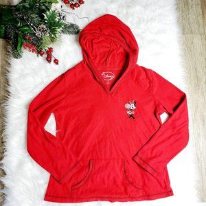 Disney Girls Red Minnie Mouse Hooded Sweater